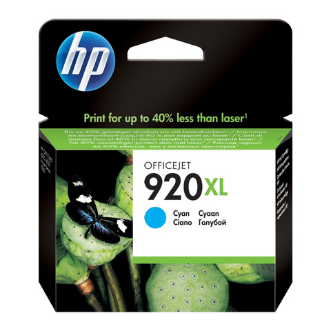 Cartouhce d'encre couleur cyan d'origine HP 920XL - CD972AE -officepartner.fr