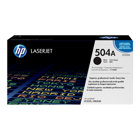 Cartouche de toner d'origine HP 504A noir - CE250A - OfficePartner.fr