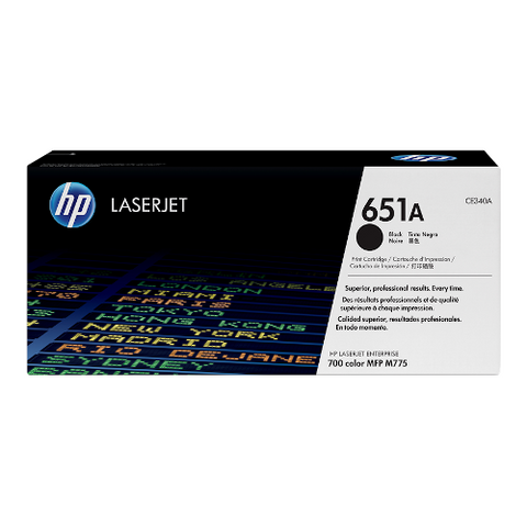 Cartouche de toner d'origine HP 651A noir - CE340A - OfficePartner.fr