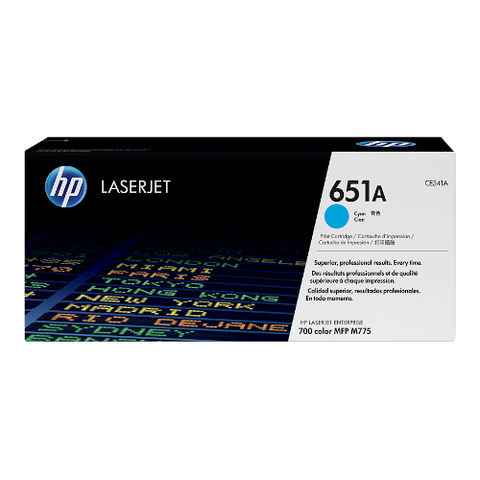 Cartouche de toner d'origine HP 651A cyan - CE341A - OfficePartner.fr