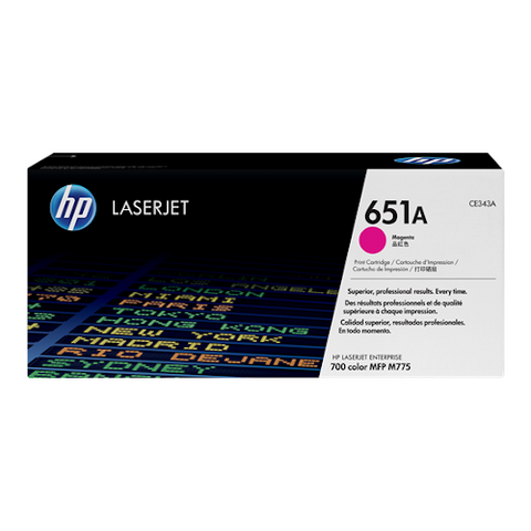 Cartouche de toner d'origine HP 651A magenta - CE343A - OfficePartner.fr
