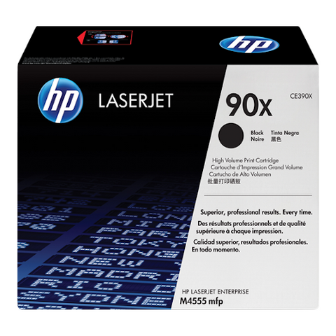 Cartouche de toner d'origine HP 90X noir - CE390X - OfficePartner.fr