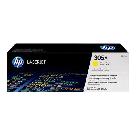 Cartouche de toner d'origine HP 305A jaune - CE412A - OfficePartner.fr