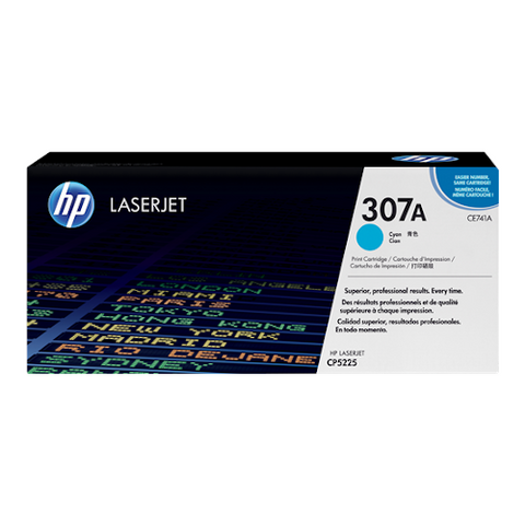 Cartouche de toner d'origine HP 307A cyan - CE741A - OfficePartner.fr
