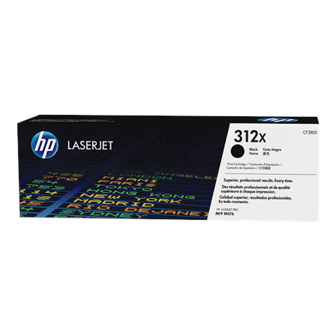 Cartouche de toner d'origine HP 312X noir - CF380X - OfficePartner.fr