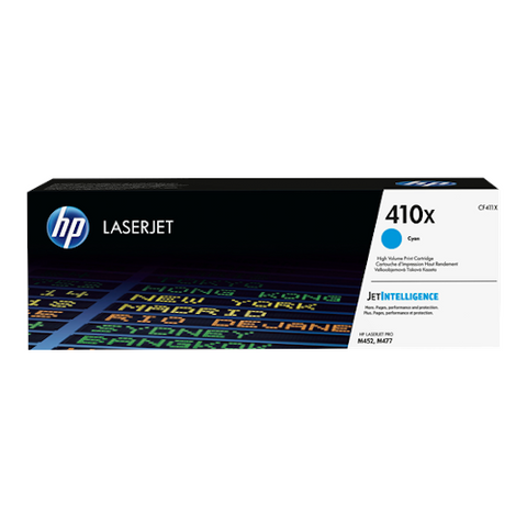Cartouche de toner d'origine HP 410X cyan - CF411X - OfficePartner.fr