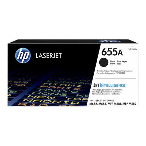 Cartouche de toner d'origine HP 655A couleur noir - CF450A - OfficePartner.fr