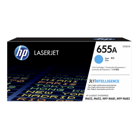 Cartouche de toner d'origine HP 655A cyan - CF451A - OfficePartner.fr