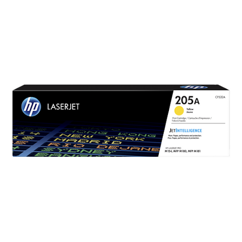 Cartouche de toner d'origine HP 205A jaune - CF532A - OfficePartner.fr
