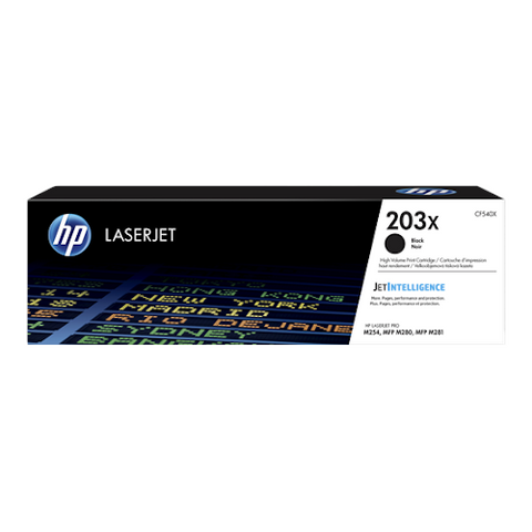 Cartouche de toner d'origine HP 203X noir - CF540X - OfficePartner.fr