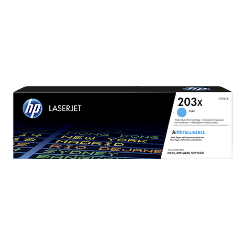 Cartouche de toner d'origine HP 203X cyan - CF541X - OfficePartner.fr