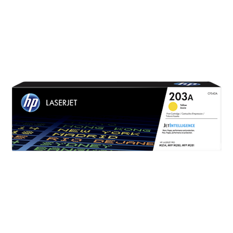 Cartouche de toner d'origine HP 203A jaune - CF542A - OfficePartner.fr