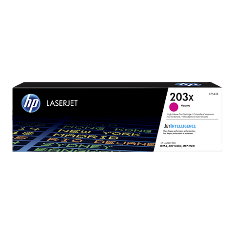 Cartouche de toner d'origine HP 203X magenta - CF543X - OfficePartner.fr
