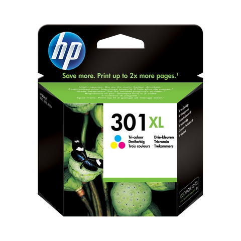 Cartouche d'encre couleur d'origine HP 301XL - CH564EE - officepartner.fr