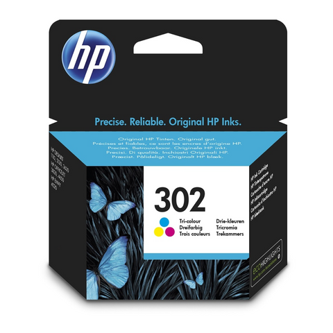Cartouche d'encre couleur d'origine HP 302 - F6U65AE - officepartner.fr