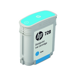 Cartouche d'encre d'origine HP 728 Designjet cyan 40ml - F9J63A - officepartner.fr