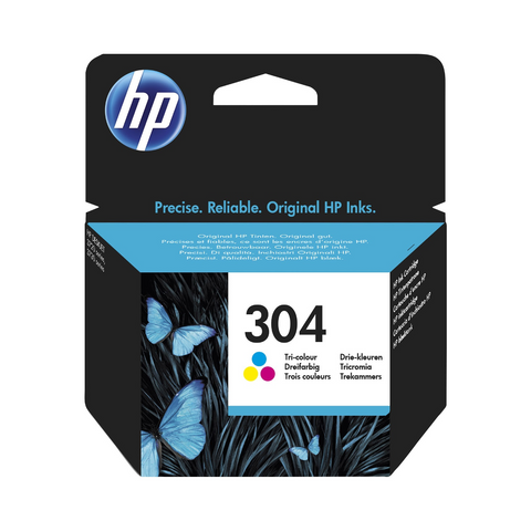Cartouche d'encre couleur d'origine HP 304 - N9K05AE - Officepartner.fr