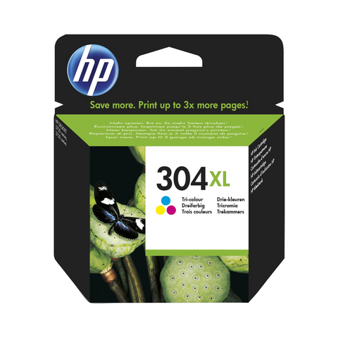 cartouche d'encre couleur d'origine HP 304XL - N9K07AE - officepartner.fr