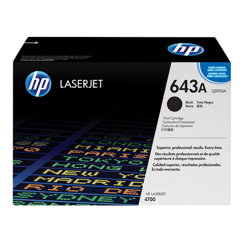 Cartouche de toner d'origine HP 643A noir - Q5950A - OfficePartner.fr
