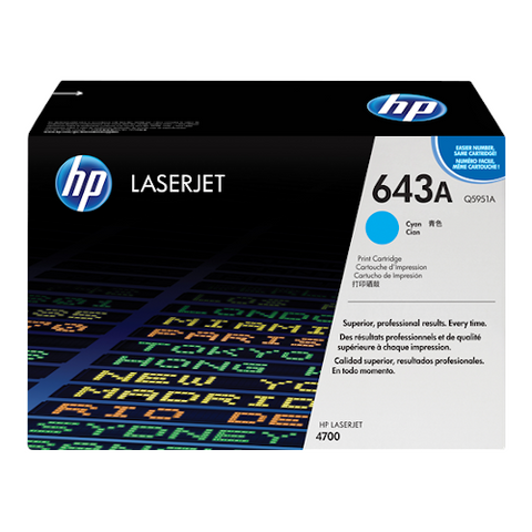 Cartouche de toner d'origine HP 643A cyan - Q5951A - OfficePartner.fr