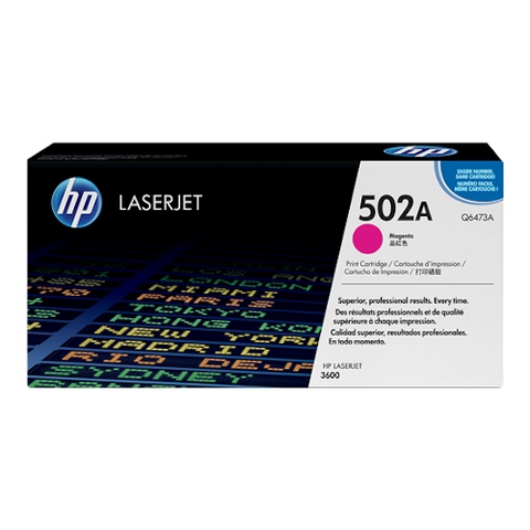 Cartouche de toner d'origine HP 502A magenta - Q6473A - OfficePartner.fr