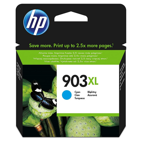 Cartouche d'encre couleur cyan d'origine HP 903XL - T6M03AE - officepartner.fr