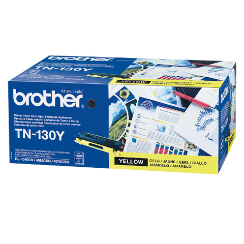 Cartouche de toner d'origine Brother jaune TN-130Y - OfficePartner.fr
