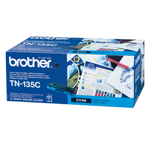 Cartouche de toner d'origine Brother couleur cyan TN-135C - OfficePartner.fr