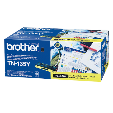 Cartouche de toner d'origine Brother jaune TN-135Y - OfficePartner.fr