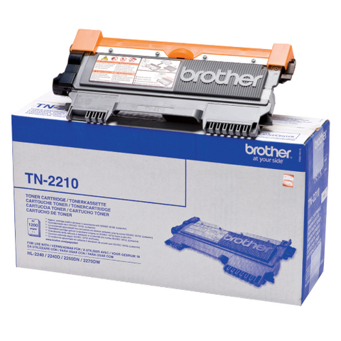 Cartouche de toner d'origine Brother couleur noir TN-2210 - OfficePartner.fr