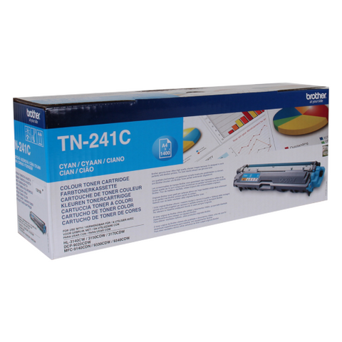 Cartouche de toner d'origine Brother couleur cyan TN-241C - OfficePartner.fr