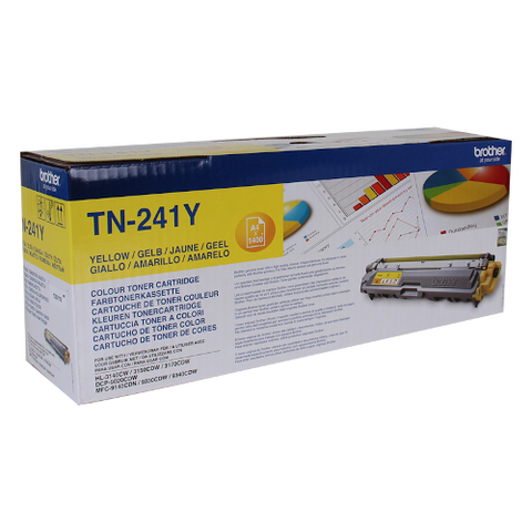 Cartouche de toner d'origine Brother couleur jaune TN-241Y - OfficePartner.fr