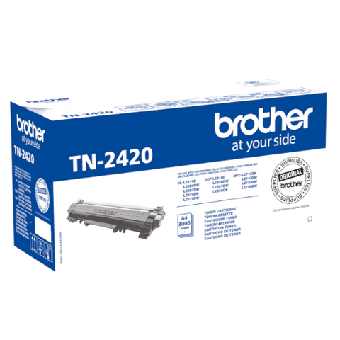 Cartouche de toner d'origine Brother noir TN-2420 - OfficePartner.fr