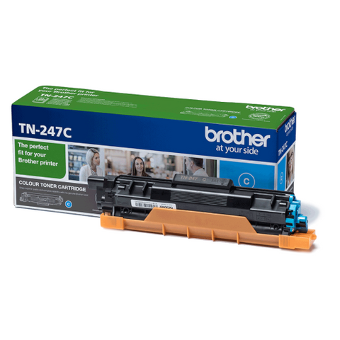 Cartouche de toner d'origine Brother couleur cyan TN-247C - OfficePartner.fr