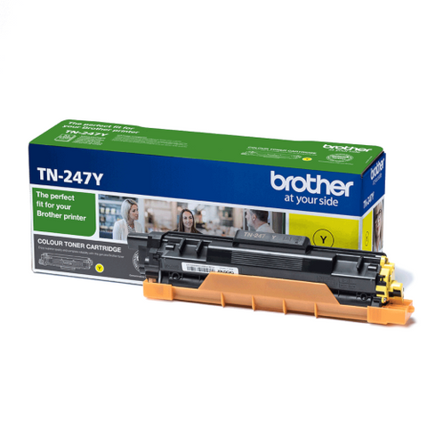 Cartouche de toner d'origine Brother couleur jaune TN-247Y - OfficePartner.fr