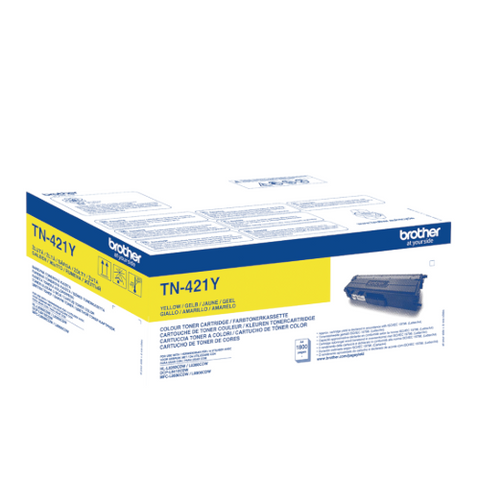 Cartouche de toner d'origine Brother jaune TN-421Y - OfficePartner.fr