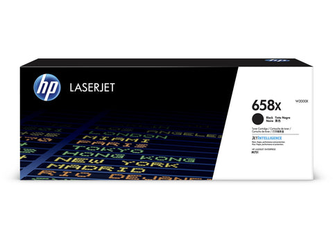 Cartouche de toner d'origine HP 658X couleur noir - W2000X - Officepartner.fr