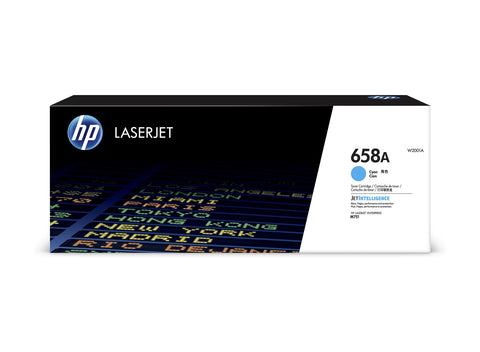 Cartouche de toner d'origine HP 658A couleur cyan - W2001A - Officepartner.fr