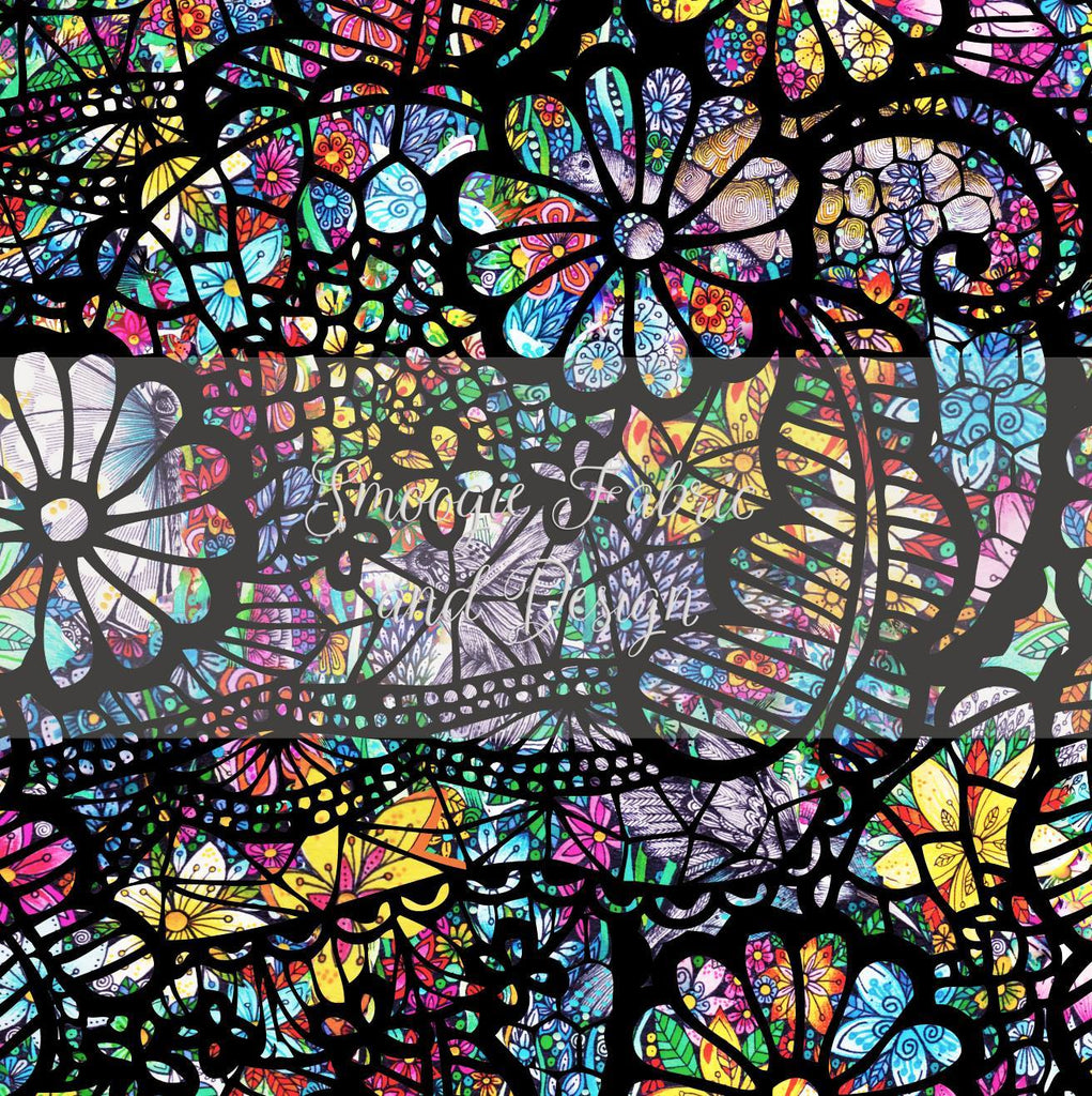 Stained Glass Lace - Cotton Lycra