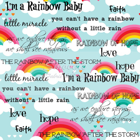 Rainbow Baby - Cotton Lycra