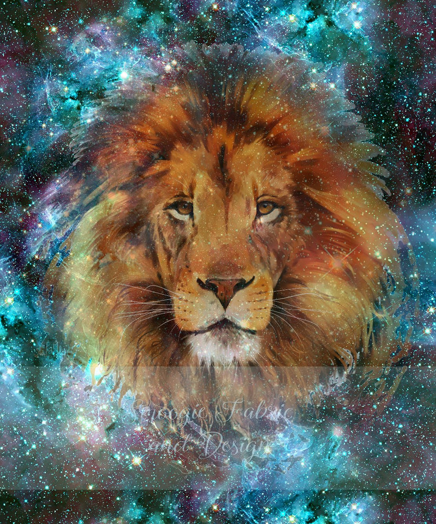 Lion panels - Cotton Lycra