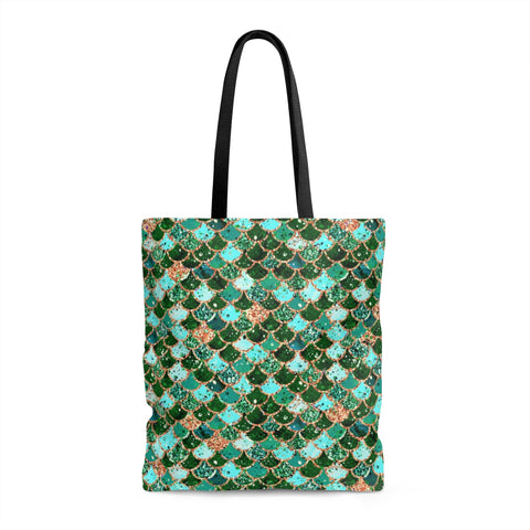 Emerald Scales Tote Bag