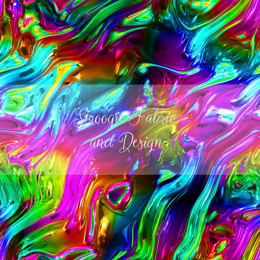 Holographic Liquid Rainbow - Cotton Canvas