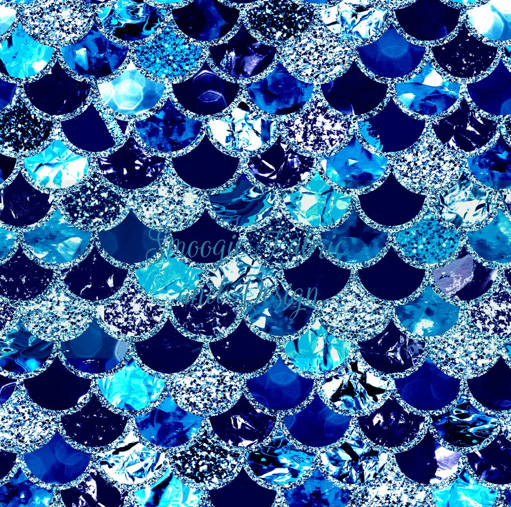 Blue Diamond Scales - Original -Bamboo Lycra