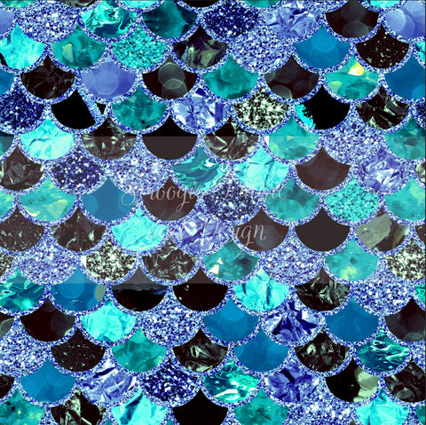 Blue Orchid Scales - Small - Cotton Lycra