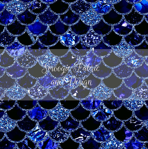 Sapphire Scales - Small -Bamboo Lycra