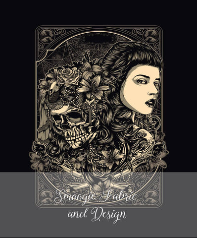 Beautiful Death panels - Cotton Woven
