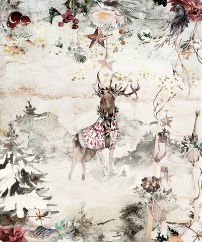 Sweater Elk Panels - Cotton Canvas