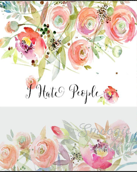 I hate people panels - Cotton Canvas