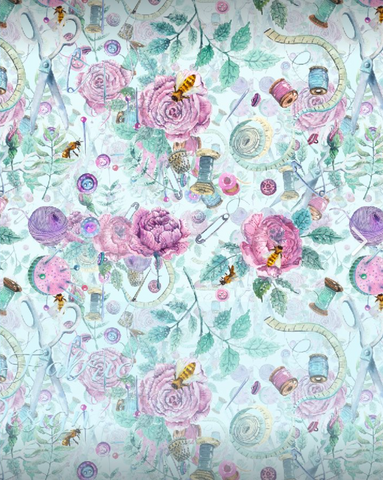 Crafty Bee Floral- Cotton Woven